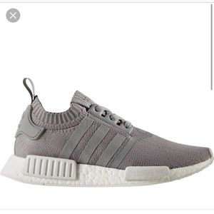 Adidas NMD R1 primeknit originals grey women's 10